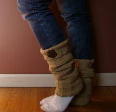 diy sweater into leg warmers