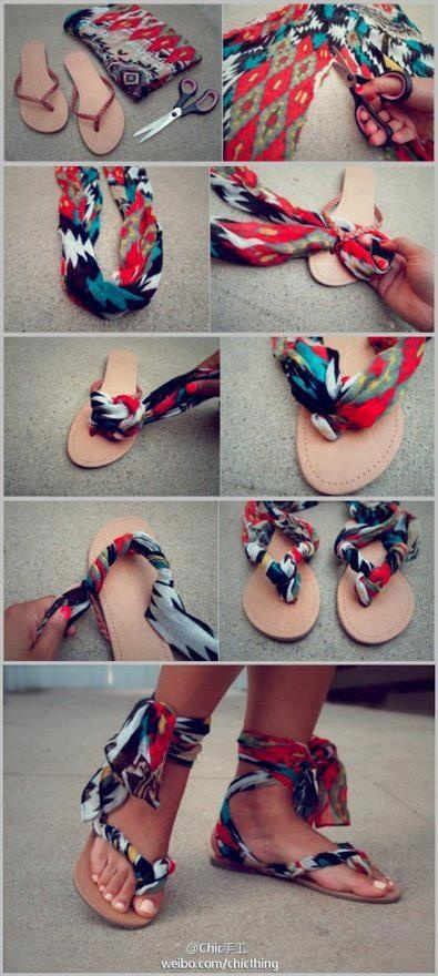 DIY Flip Flops A review Upcycling a thrift store find