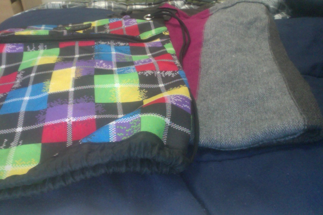 DIY upcycling a sweater into laptop tablet case from a thrift store