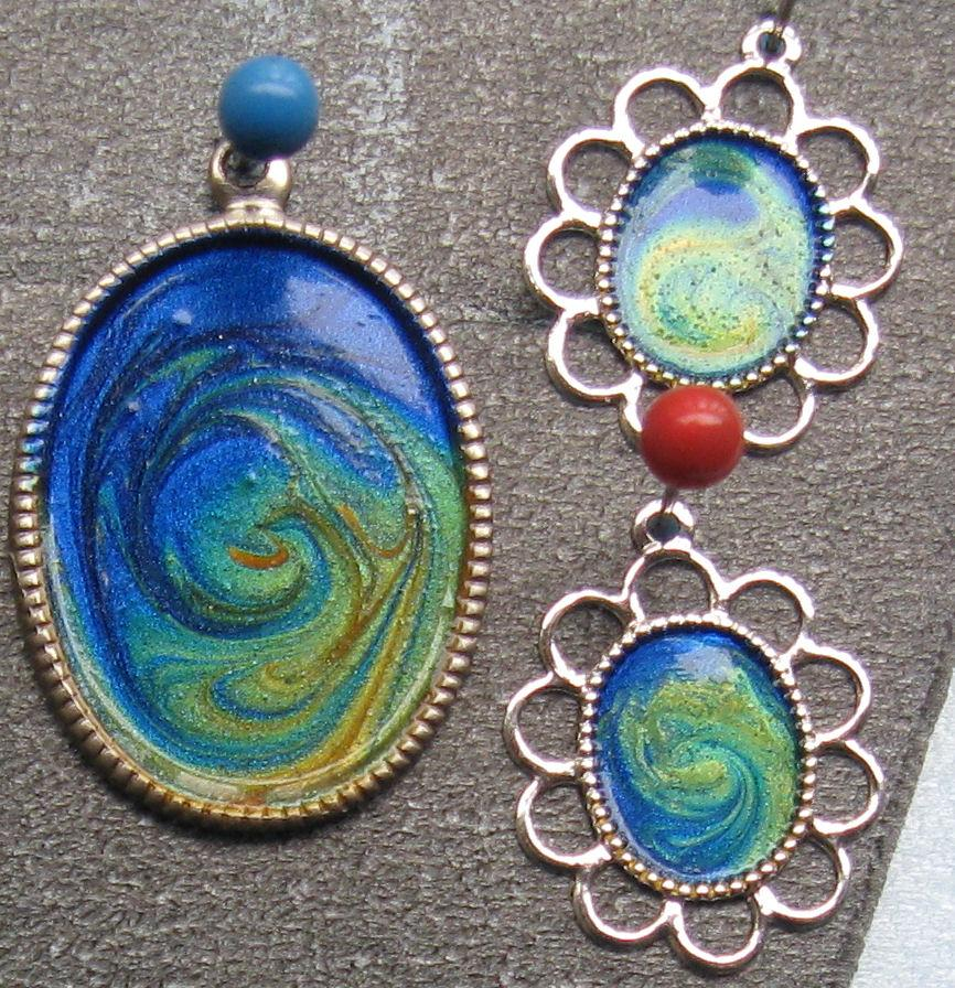 DIY Lacquered Jewelry from Urban Thrift caglary thrift store jewelry 2